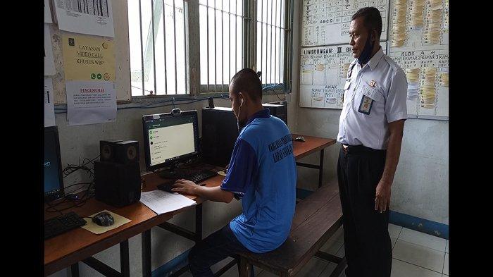 Suasana Lebaran, Lapas Kelas II B Singkawang Terapkan Kunjungan Online