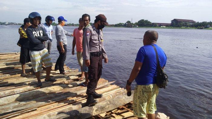 BREAKING NEWS - Tragis, Buruh Bangunan Ditemukan Tewas Tenggelam di Sungai Landak Pontianak