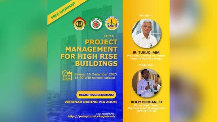 Fakultas Teknik UPB dan Ikatan Alumni Gandeng Pertapin Gelar Webinar Hadirkan Praktisi Konstruksi