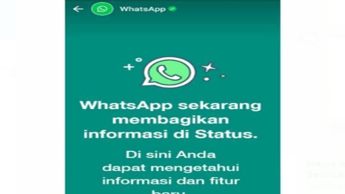 Tanda Hijau di Status WA dari WhatsApp ! Status Link Hijau WhatsApp Berisi Informasi Pembaruan WA