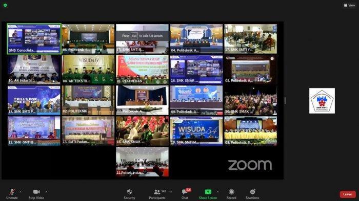 Suasana Wisuda Virtual Serentak se-Indonesia, SMK-SMTI Pontianak, Sabtu 28 November 2020
