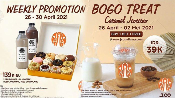 www.jcodelivery.com Promo April 2021, Promo Terbaru Jco Delivery 1 Lusin Donut Plus 1 Liter JCOFFEE