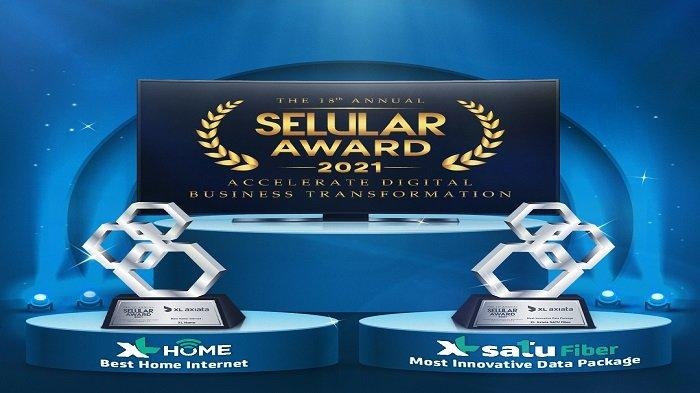 Paket Inovatif XL SATU Fiber Kantongi Penghargaan Seluler Award 2021