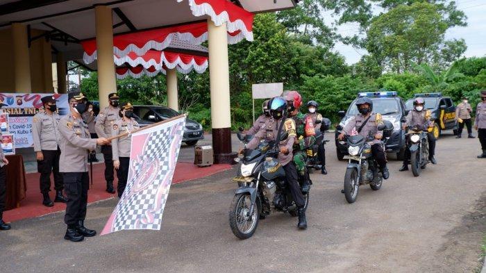 Penanggulangan Covid-19, Kapolres Kubu Raya Buka Gelar Bhakti Sosial TNI-Polri pada Masyarakat