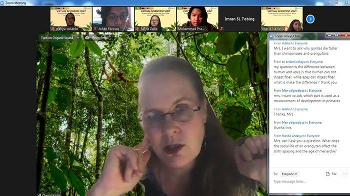 Prof Cheryl Knott Sampaikan Kuliah Umum Secara Virtual tentang Life History Primata di UNAS