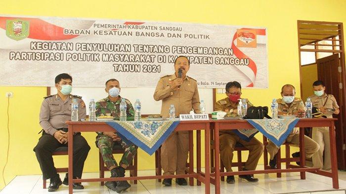 Wabup Sanggau Yohanes Ontot Buka Kegiatan Penyuluhan Tentang Pengembangan Partisipasi Politik