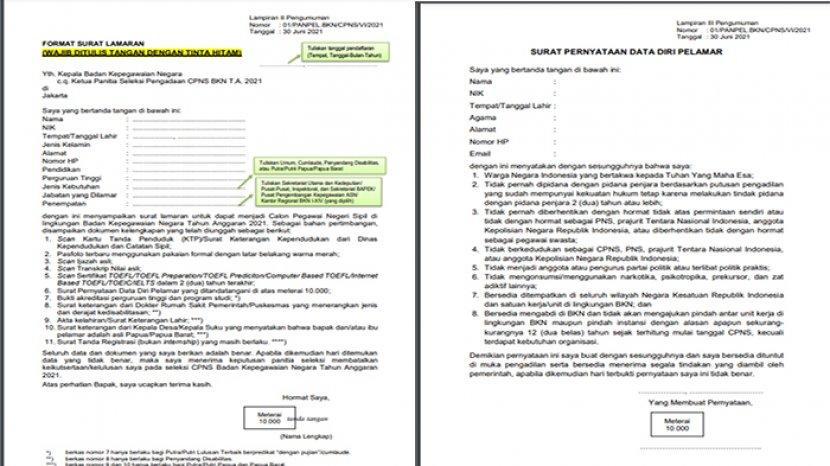 34++ Contoh surat pernyataan cpns kemenkumham 2021 terbaru terbaru
