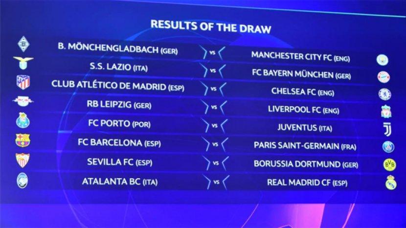 Hasil Drawing Liga Champions dan Liga Eropa 2020-2021 ...