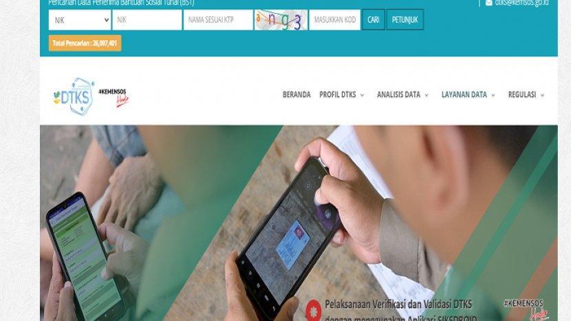 Login Dtks Kemensos Go Id Dan Cek Ktp Online Dapat Bansos Rp 300 Ribu Atau Tidak Tribun Pontianak