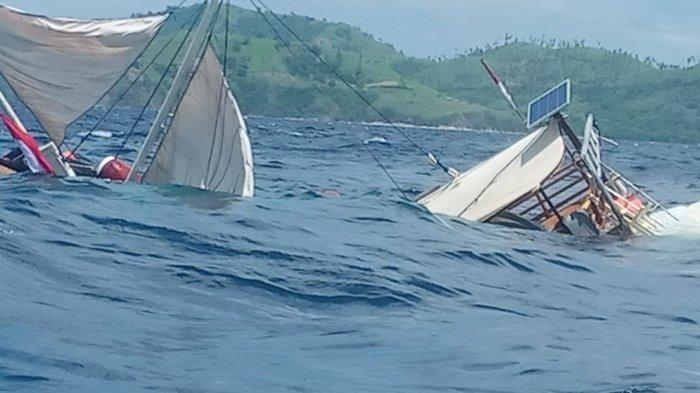 Cerita Tenggelamnya Kapal Pinisi Yang Ditumpangi Wartawan Istana di Labuan Bajo