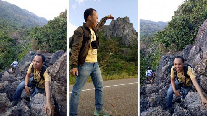 Tris, wisatawan lokal di tempat wisata Gunung Fatuleu yang ada di wilayah Desa Nunsaen, Kecamatan Fatuleu Tengah, Kabupaten Tengah.