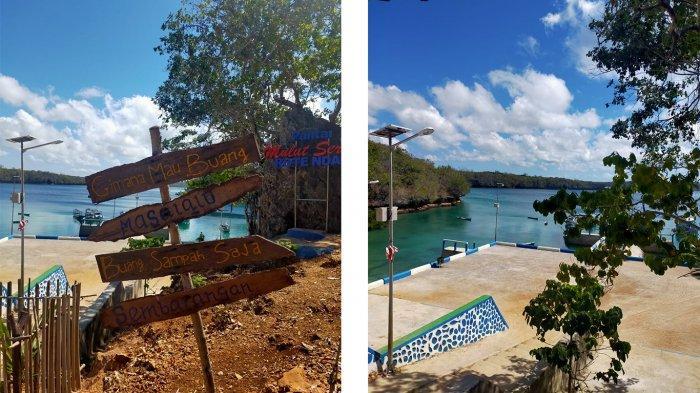 Salah satu bagian di lokasi wisata Pantai Mulut Seribu yang ada di Kabupaten Rote Ndao, Provinsi Nusa Tenggara Timur ( NTT ), Indonesia.