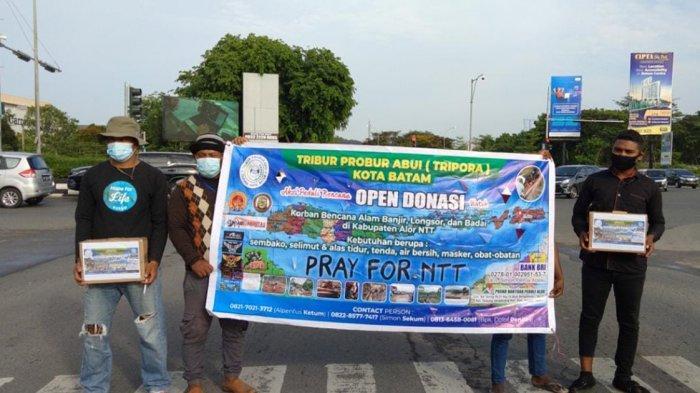 Forum Tripora Batam dan PMDJ Batam galang dana kemanusiaan di Kota Batam untuk korban Bencana Seroja di NTT.