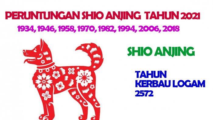 Shio Anjing dimiliki oleh mereka yang lahir Tahun : Tahun Lahir: 1934, 1946, 1958, 1970, 1982, 1994, 2006, 2018