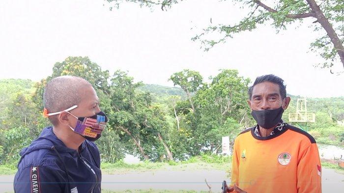 Ketua KTH Raknamo Baru Terbit, Yusuf Ledo di Bendungan Raknamo, Kabupaten Kupang, Provinsi NTT