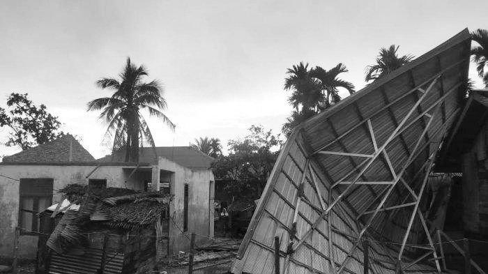 Dihantam Angin Kencang, 4 Rumah Warga Aceh Timur Rusak Berat