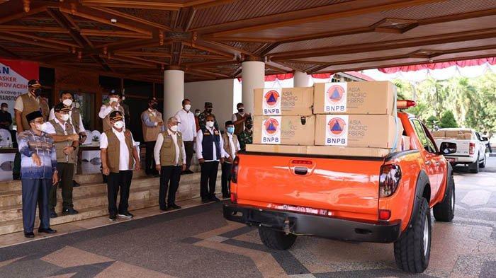 Aceh Terima Bantuan Mesin PCR dan Masker dari BNPB