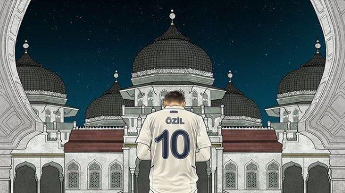 Mesut Ozil Pasang Foto Berlatar Masjid Raya, Saat Ucapkan Selamat HUT RI
