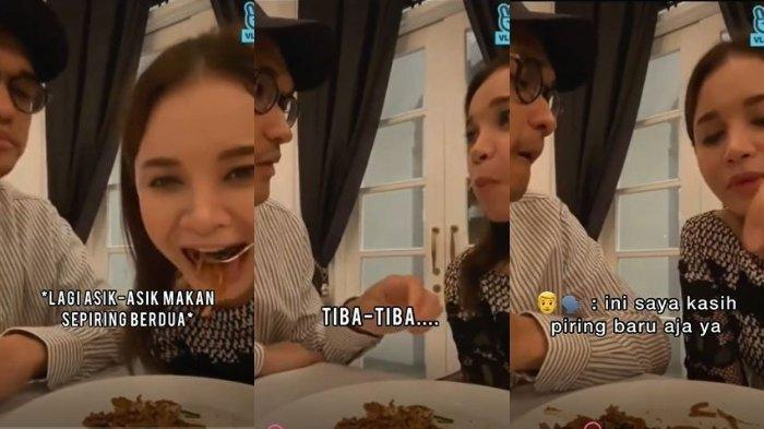 Video mesra Rossa dan Afgan di salah satu restoran. (Tangkapan layar TikTok @_afross)