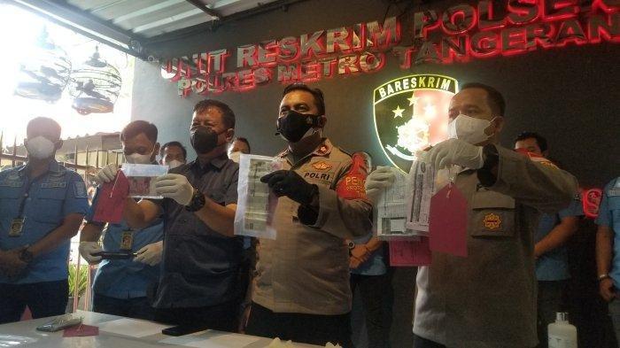 Konferensi pers di Polsek Benda, Tangerangf, Rabu (29/9/2021)