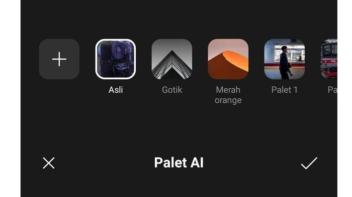 Tampilan AI Palette di OPPO Reno6