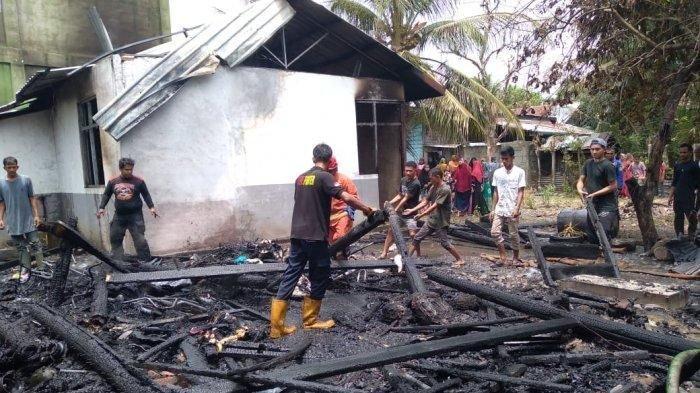 Empat Rumah di Seulimuem Terbakar, Sembilan Orang Mengungsi