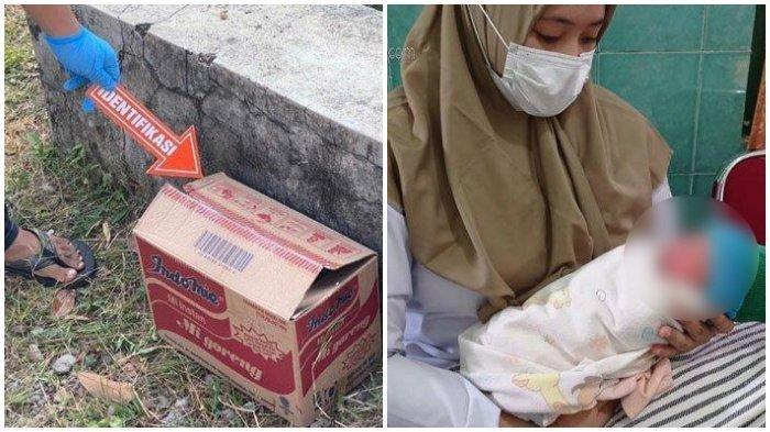 Warga Temukan Bayi didalam Kotak Mi Instan, Ternyata Dibuang