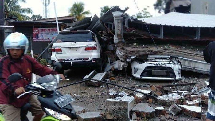 Video Detik-detik Gempa Sulbar Terekam Live Facebook, Terdengar Suara Bangunan Ambruk, Allahu Akbar