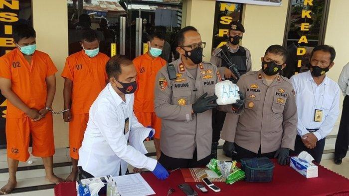 Polres Langsa Ciduk Tiga Tersangka Pemilik 1 Kg Sabu