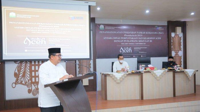 Kepala Dinas Perpustakaan dan Kearsipan Aceh Dr. Edi Yandra, S.STP,MSP