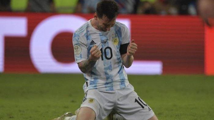 Rayakan Gelar Copa America Messi Menangis di Hadapan Publik
