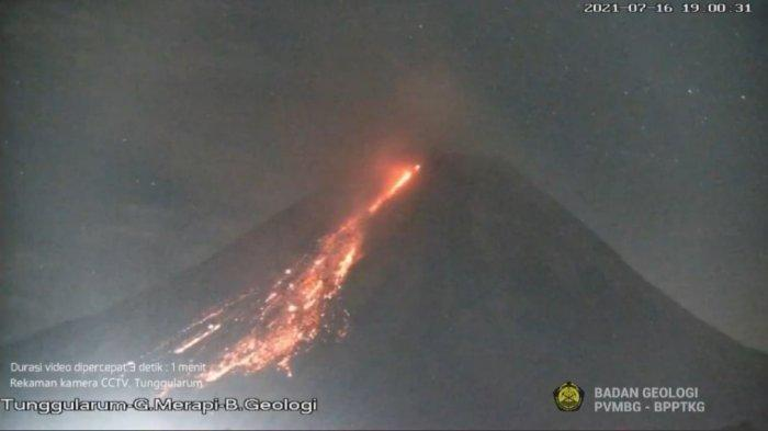 Gunung Merapi Kembali Luncurkan Lava, Berpotensi  Awan Panas Hingga Bahaya Lahar
