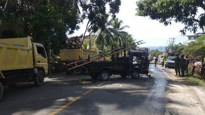 Truk Kontra Pikap, Lima Orang Terluka