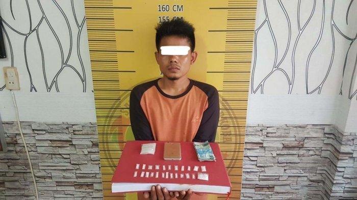 Polisi Berhasil Menangkap Pengedar Sabu 6,34 Gram, Setelah Warga Resah dan Melaporkan Kepolisi