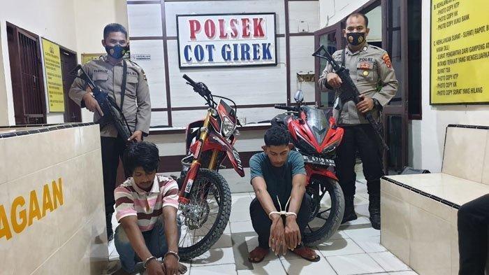Dua Tersangka Pencuri Sepmor Ditangkap Polisi di Rumahnya