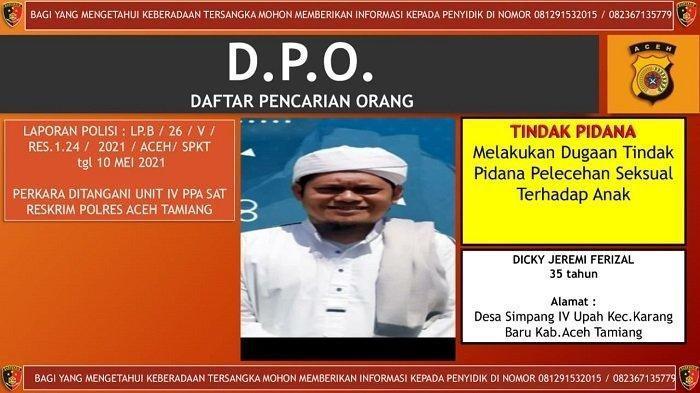 Terkait Kasus Cabul, Seorang Guru jadi DPO Polres Aceh Tamiang