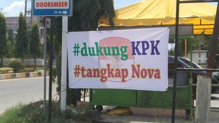 Spanduk Dukung KPK Usut Korupsi Bertebaran di Aceh