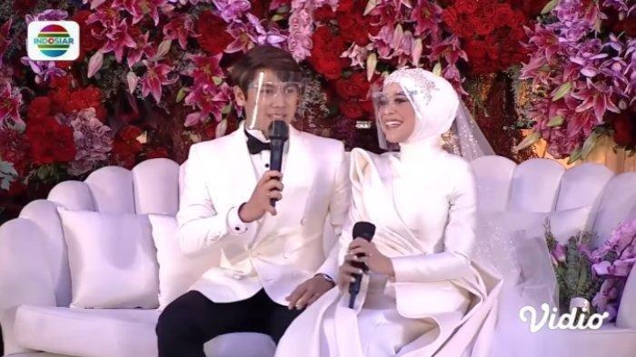 Tasyakuran pernikahan Lesti Kejora dan Rizky Billar. (Tangkapan Layar Vidio.com)
