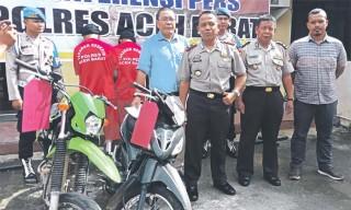 Polisi Ungkap Penadah Barang Curian di Aceh Barat