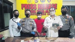 Residivis Kasus Ganja Kuras Toko Voucher di Banda Aceh
