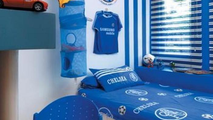 Kamar Tidur Anak Fans Klub Sepak Bola Chelsea Serambi Ummah