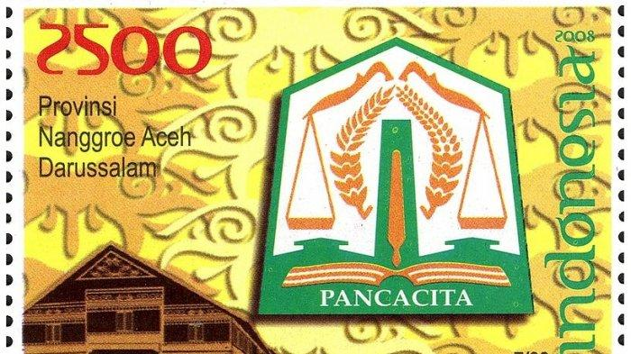 Pancacita, Lambang Provinsi Aceh dalam Prangko Tahun 2008