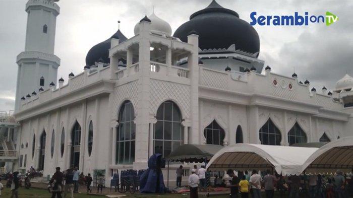 Potret Masjid Rahmatullah Lampuuk Kecamatan Lhoknga kini. (Serambi On Tv)