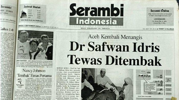 Prof Dr H Safwan Idris MA, Mutiara Aceh yang Gugur Karena Konflik Bersenjata