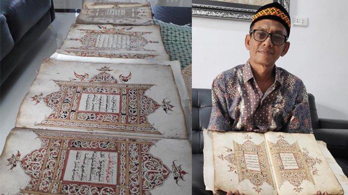 Masya Allah, Indahnya Mushaf Alquran Kuno Aceh, Bainah Indatu di Kertas Impor dari Eropa