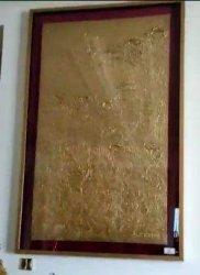 36 lukisan berlapis emas milik Jimmy Sutopo ditemukan saat penggeledahan di apartement Raffles Residences lantai 36 D, Kuningan, Jakarta Selatan.
