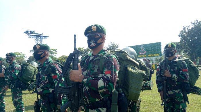 Berangkat ke Papua Saat Pandemi Corona, 450 Pasukan Yonif 413/Bremoro Tempuh Jalur Laut