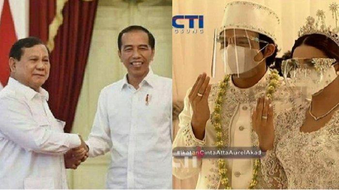 Jokowi Hadir di Pernikahan Aurel dan Atta, Tanggapan Fiersa Besari hingga Ernest Prakasa Disorot