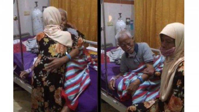 Viral Kakek dan Nenek Berpelukan hingga Menangis saat Bertemu, Ternyata Sempat Berpisah karena Sakit