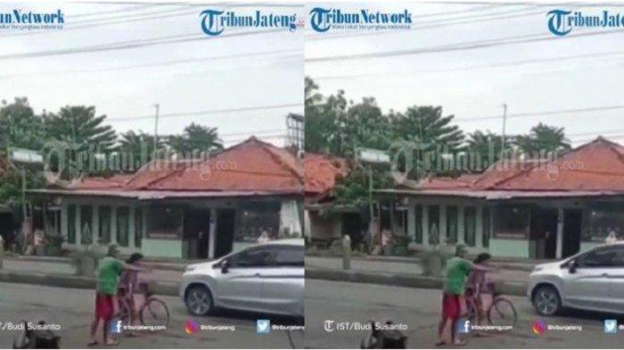 Video Wanita Hadang Mobil Pakai Sepeda di Tengah Jalan Raya Viral, Diduga Mencoba Bunuh Diri